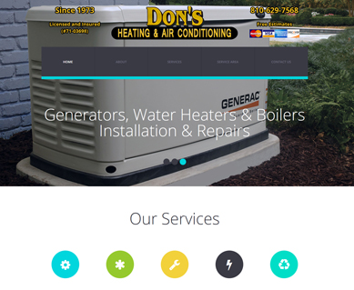 Heating and Air Conditioning Website Design Portfolio CO