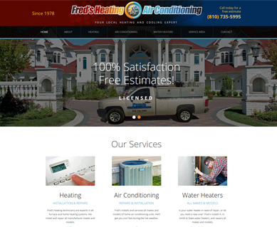 Heating and Air Conditioning Website Design Portfolio Colorado